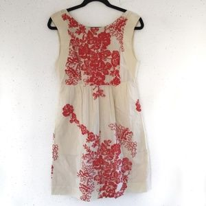 J. Crew Floral Embroidered Canvas Dress